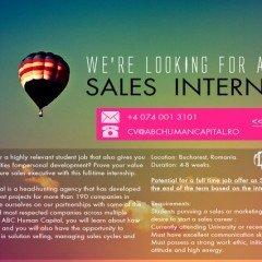 Ne extindem echipa cu un Sales Intern!