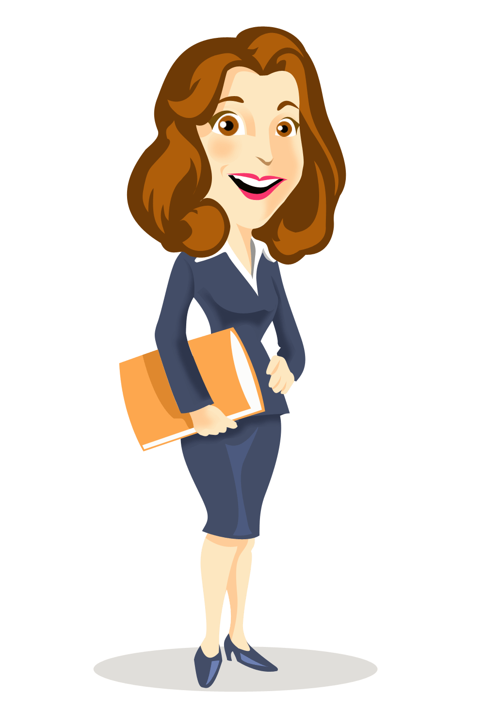 cartoon woman clip art - HD 1000×1500