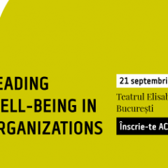 Well Being Experience – 21 septembrie 2017 – Bucuresti