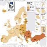 Ore de munca ale angajatilor pentru fiecare tara din Europa